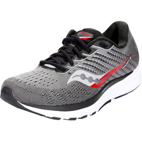 saucony Ride 13 Shoes Men, charcoal/red
